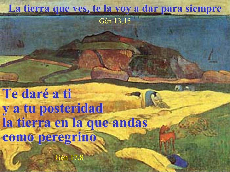 Te daré a ti y a tu posteridad la tierra en la que andas como peregrino Te daré a ti y a tu posteridad la tierra en la que andas como peregrino Gén 17