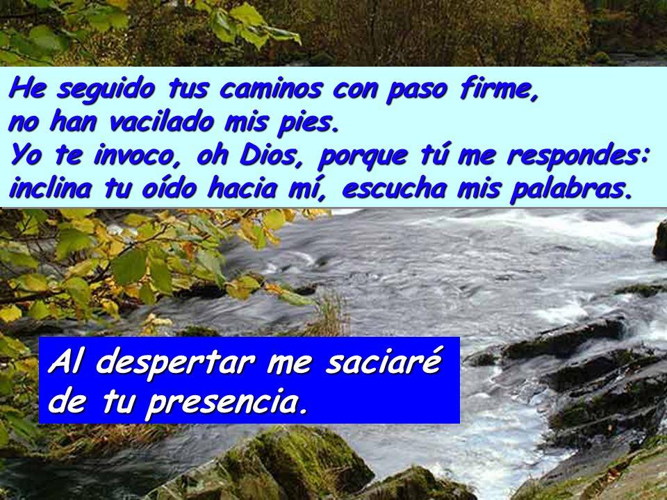 Salmo 16 Escucha, Señor, mi demanda, atiende a mi clamor, presta oído a mi plegaria, que en mis labios no hay engaño. Al despertar me saciaré de tu pr