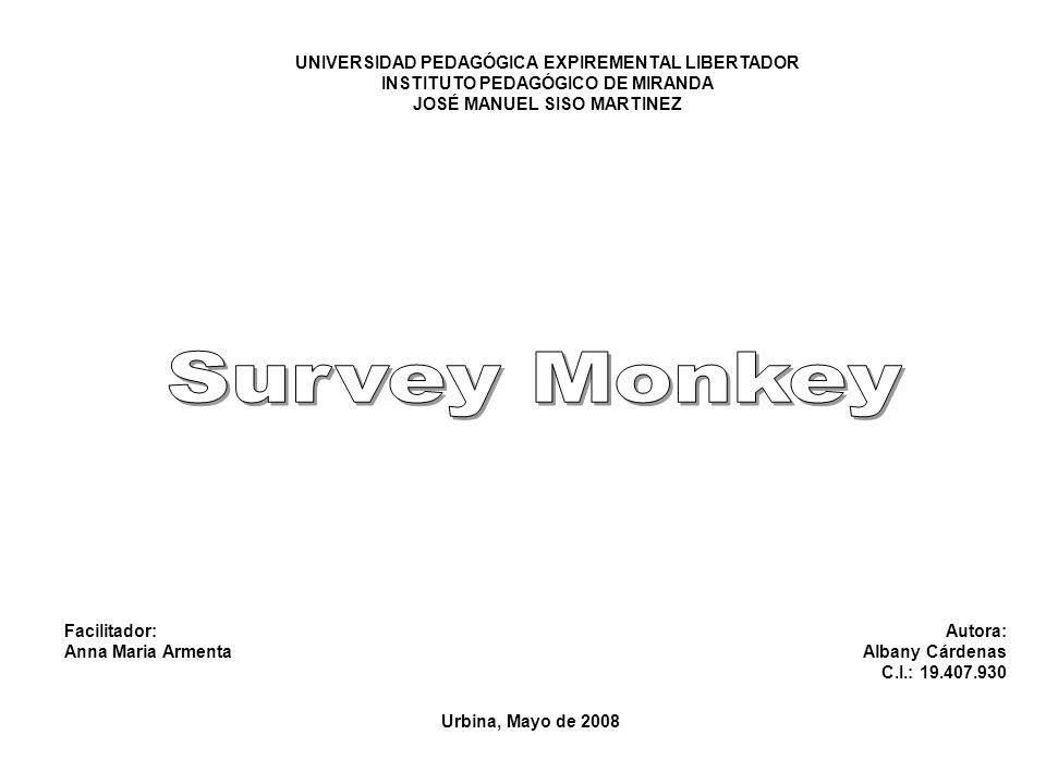 A continuación les mostrare como crear una encuesta en SurveyMonkey.com