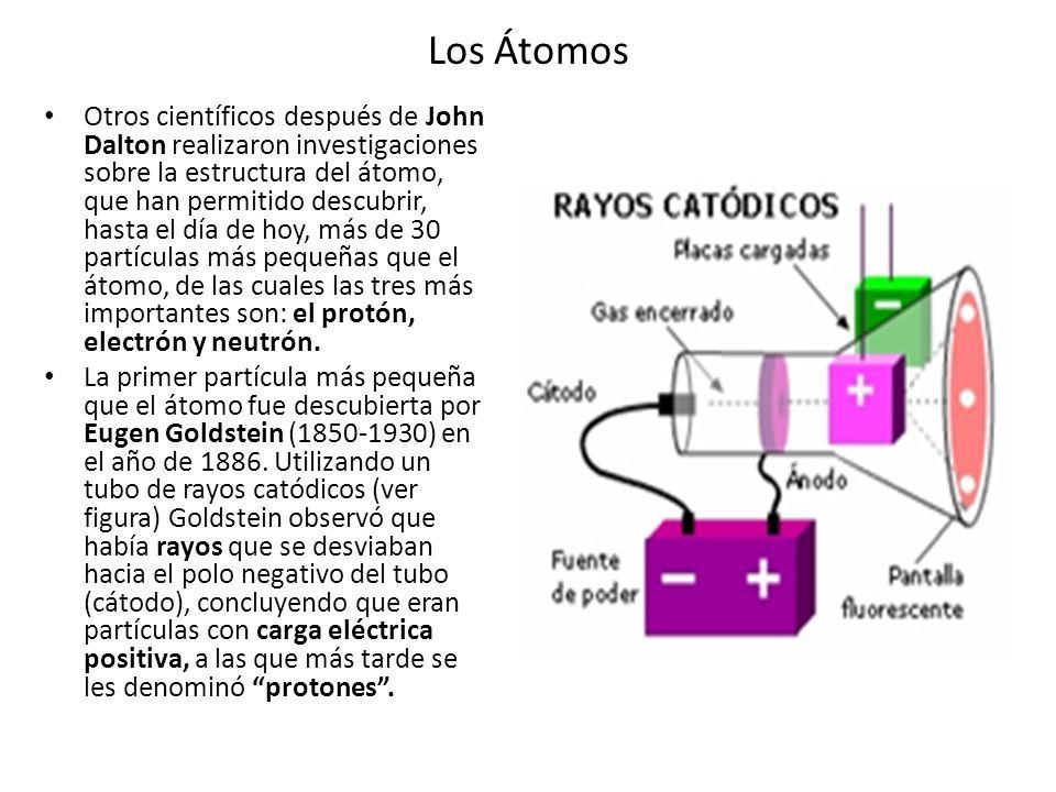 Los Átomos Otros científicos después de John Dalton realizaron investigaciones sobre la estructura del átomo, que han permitido descubrir, hasta el dí
