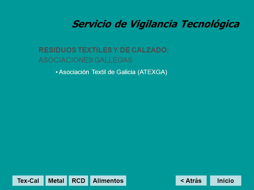 Servicio de Vigilancia Tecnológica RESIDUOS DE METAL / MECÁNICA: GRUPOS DE INVESTIGACIÓN GALLEGOS Laboratorio de Análisis Estructural (LAE) < Atrás InicioTex-Cal MetalRCD Alimentos