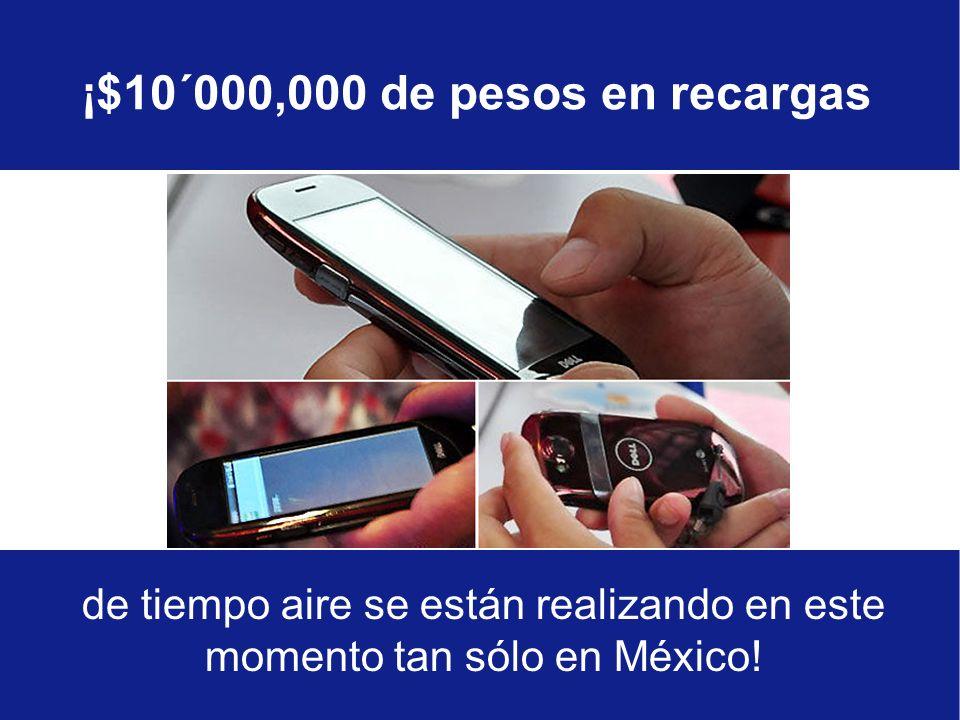 de tiempo aire se están realizando en este momento tan sólo en México.