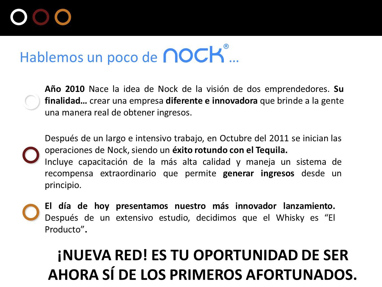 Año 2010 Nace la idea de Nock de la visión de dos emprendedores. Su finalidad… crear una empresa diferente e innovadora que brinde a la gente una mane