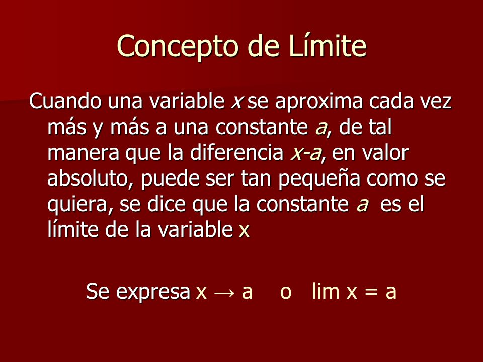Limites laterales y = 4 + x.
