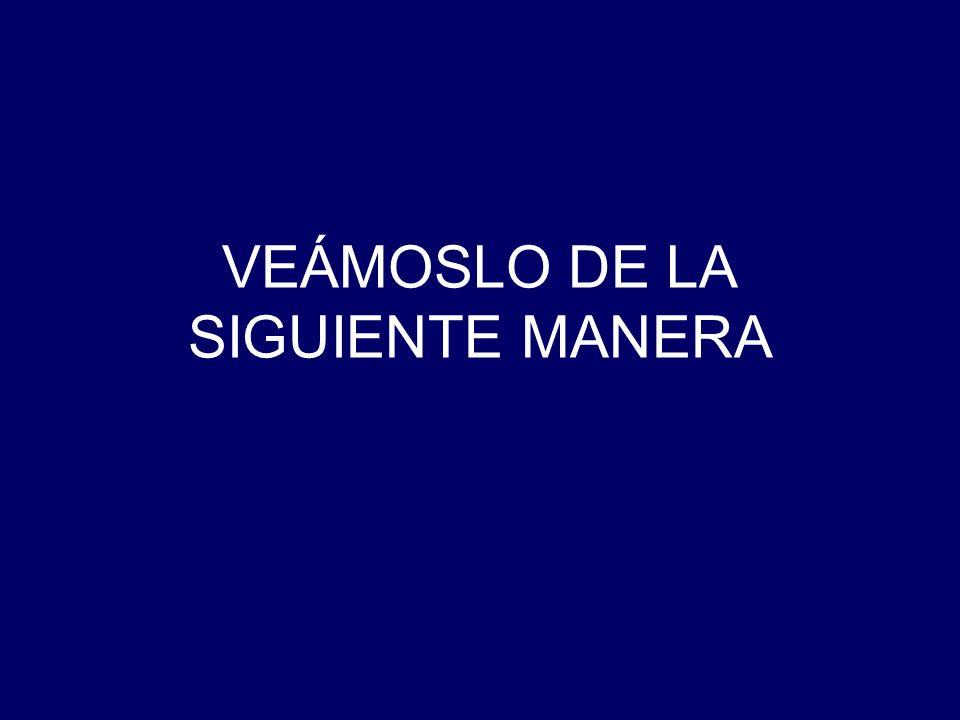 VEÁMOSLO DE LA SIGUIENTE MANERA