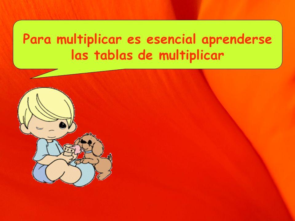 Para multiplicar es esencial aprenderse las tablas de multiplicar