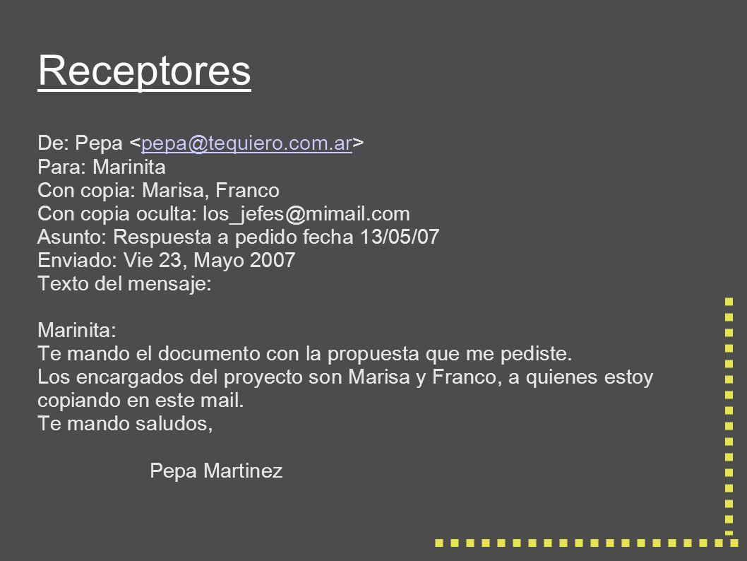 Responder entre líneas (inline) De: Pepa pepa@tequiero.com.ar Para: Marinita Asunto: Qué hacemos esta noche.