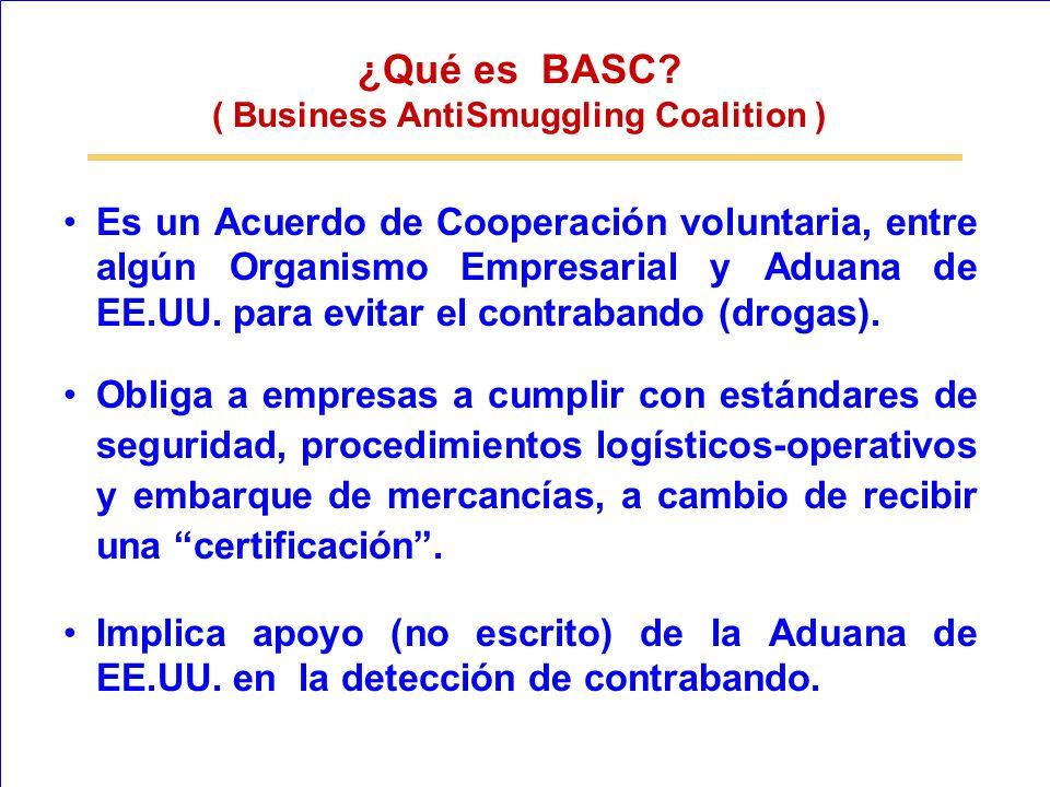Es un Acuerdo de Cooperación voluntaria, entre algún Organismo Empresarial y Aduana de EE.UU. para evitar el contrabando (drogas). Obliga a empresas a