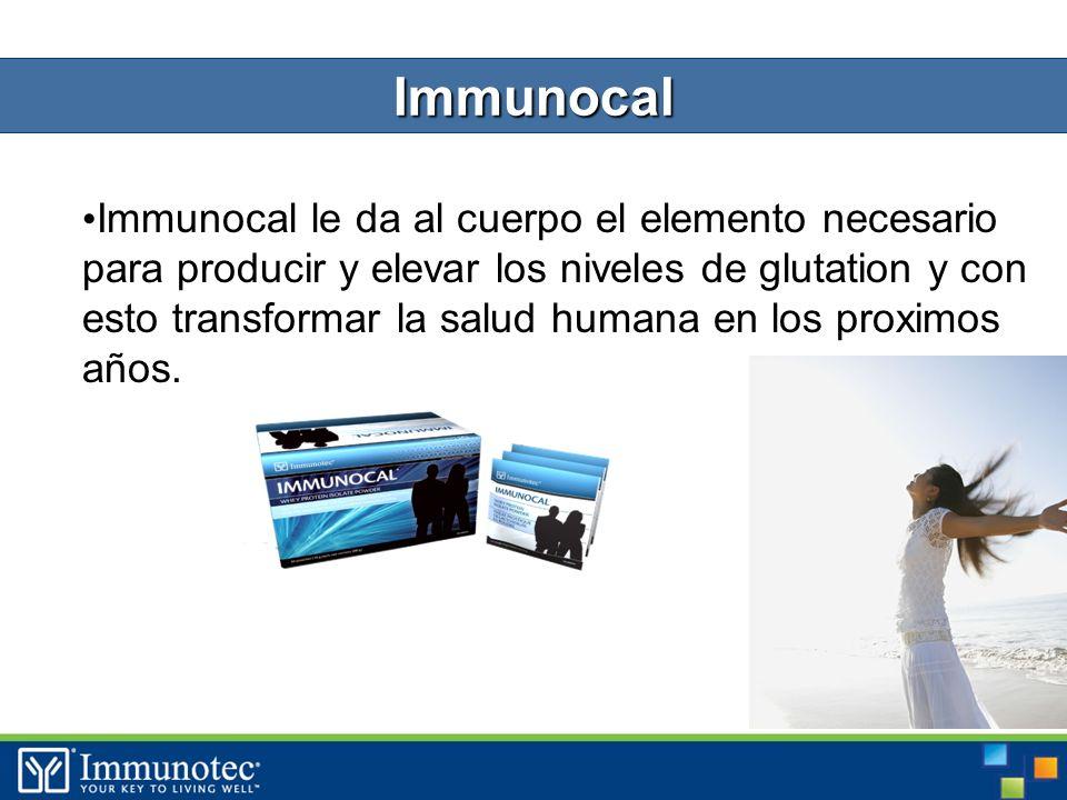 27 Immunocal le da al cuerpo el elemento necesario para producir y elevar los niveles de glutation y con esto transformar la salud humana en los proximos años.