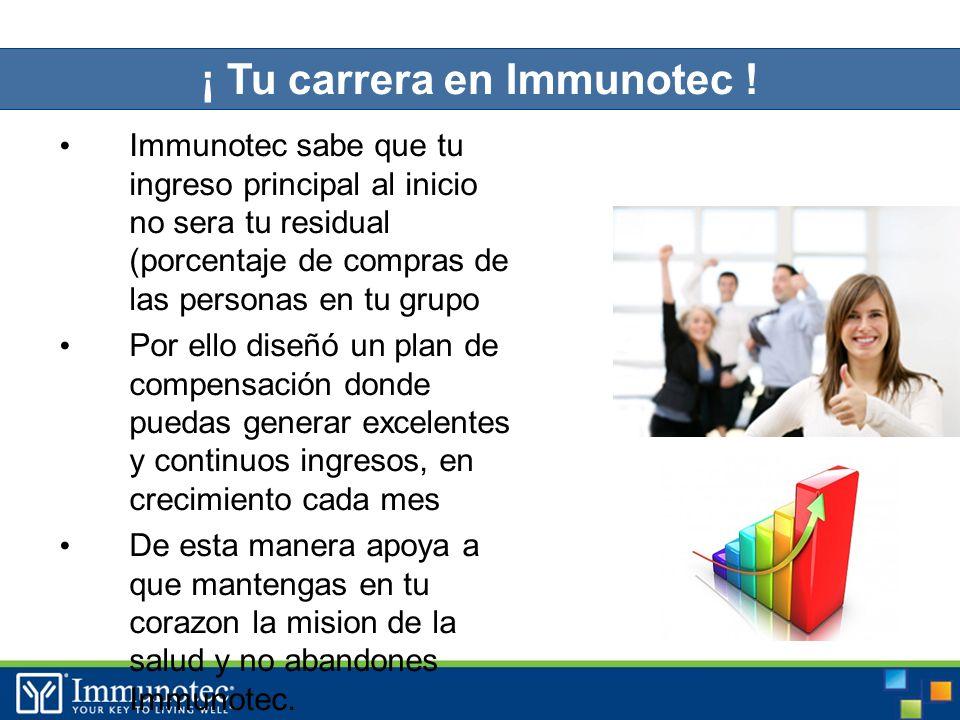 ¡ Tu carrera en Immunotec .