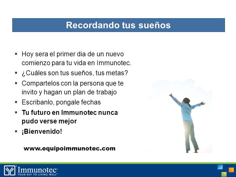 48 Hoy sera el primer dia de un nuevo comienzo para tu vida en Immunotec.