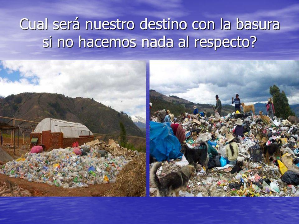 Cual será nuestro destino con la basura si no hacemos nada al respecto?