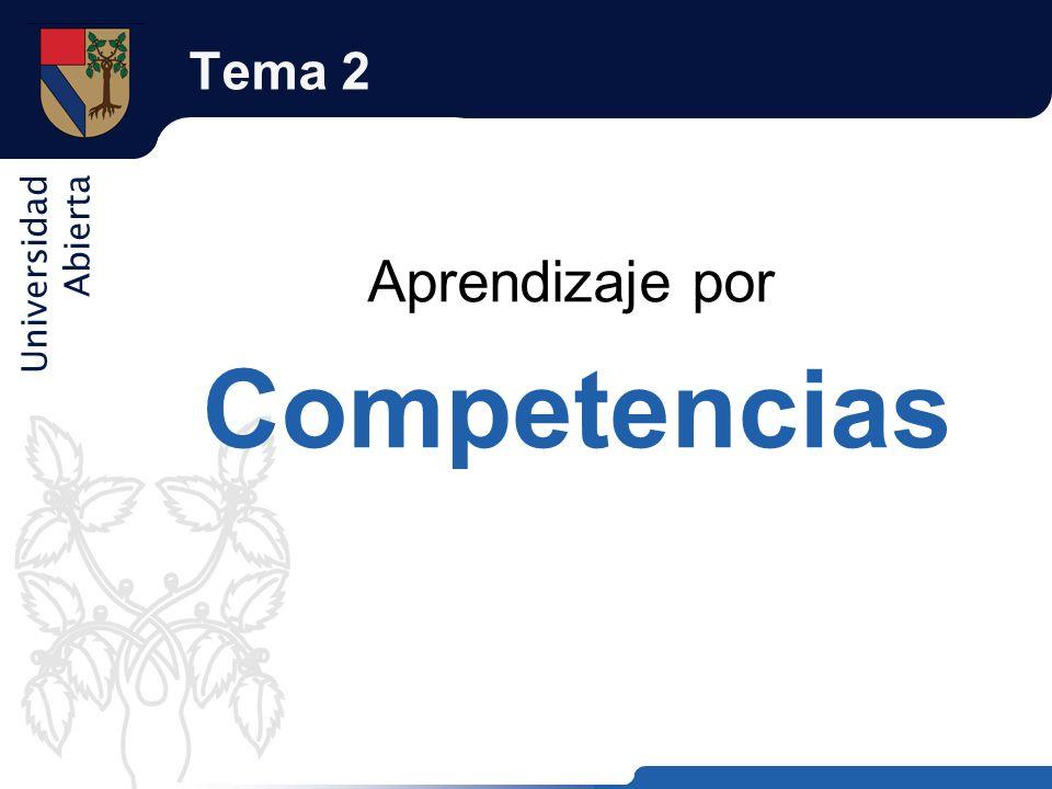 Universidad Abierta Tema 2 Aprendizaje por Competencias