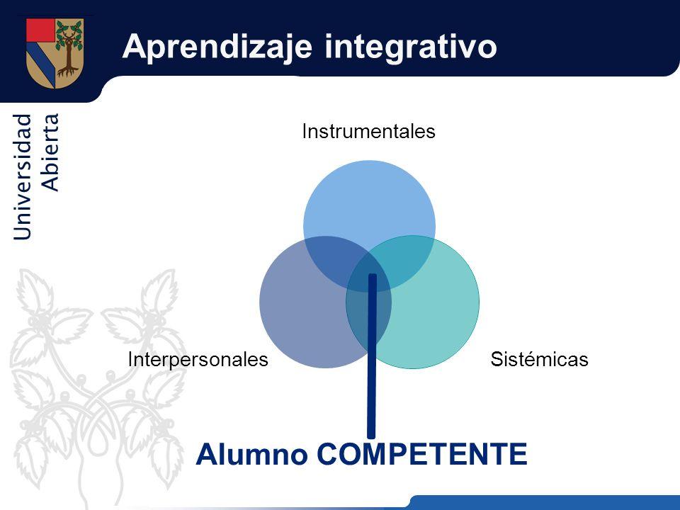 Universidad Abierta Aprendizaje integrativo Alumno COMPETENTE