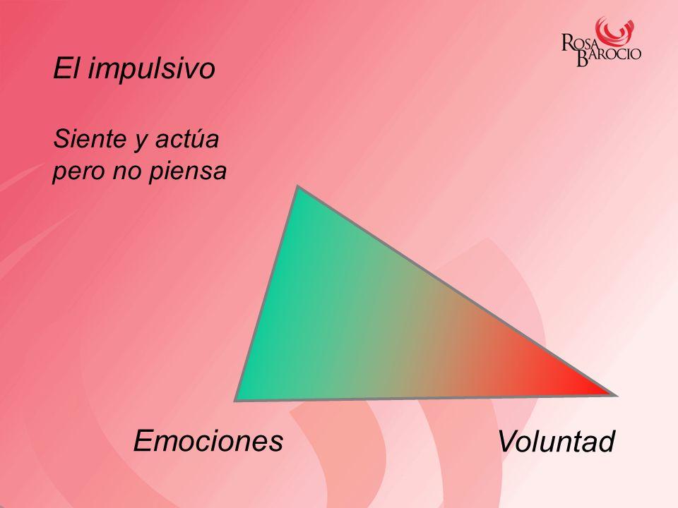Emociones Voluntad El impulsivo Siente y actúa pero no piensa
