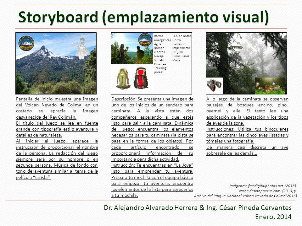 Pantalla de inicio muestra una imagen del Volcán Nevado de Colima, en un costado se aprecia la imagen desvanecida del Rey Colimán. El título del juego