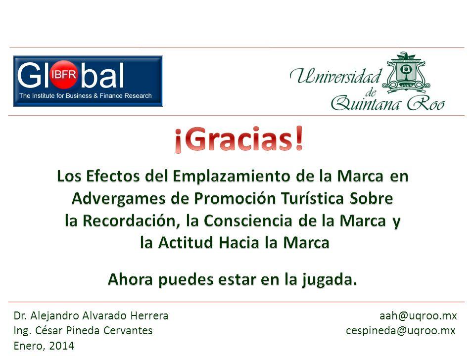 Dr. Alejandro Alvarado Herrera aah@uqroo.mx Ing. César Pineda Cervantescespineda@uqroo.mx Enero, 2014