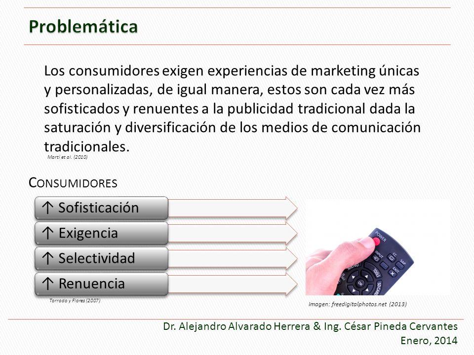 Sofisticación Exigencia Selectividad Renuencia Torrado y Flores (2007) C ONSUMIDORES Los consumidores exigen experiencias de marketing únicas y person