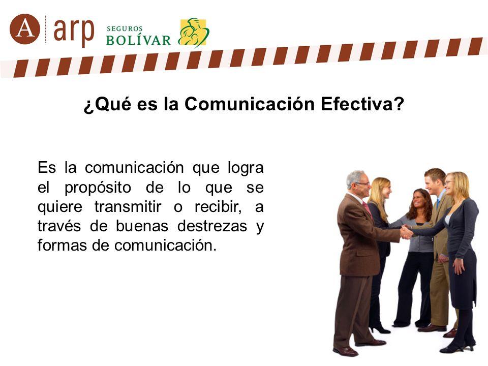 ¿Qué es la Comunicación Efectiva? Es la comunicación que logra el propósito de lo que se quiere transmitir o recibir, a través de buenas destrezas y f