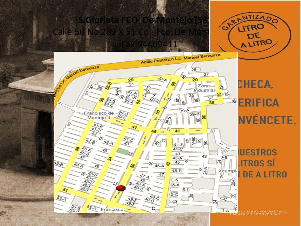 S.Glorieta FCO.De Montejo (5879) Calle 50 No 289 X 51 Col.