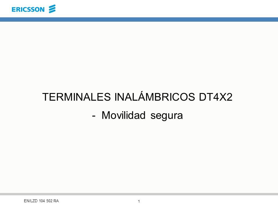 1 EN/LZD 104 502 RA TERMINALES INALÁMBRICOS DT4X2 - Movilidad segura