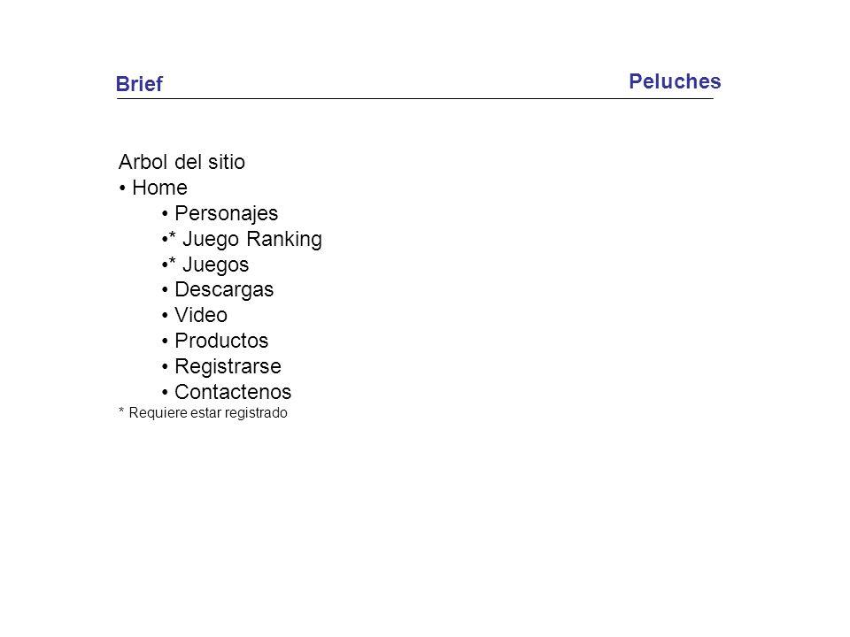 Peluches Brief Arbol del sitio Home Personajes * Juego Ranking * Juegos Descargas Video Productos Registrarse Contactenos * Requiere estar registrado