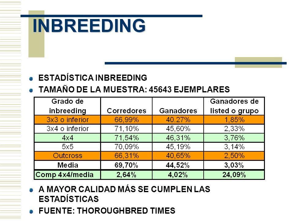 NICKS TIPOS DE NICKS: SEMENTAL CON HIJA DE OTRO SEMENTAL SEMENTAL CON DESCENDIENTE EN LÍNEA PATERNA DE DETERMINADO SEMENTAL LÍNEA PATERNA DE SEMENTAL CON DESCENDIENTE DE LÍNEA PATERNA DE DETERMINADO SEMENTAL DATOS ASOCIADOS A LOS NICKS % DE GANADORES % DE GANADORES DE STAKES AEI: AVERAGE EARNING INDEX CI: COMPARABLE INDEX