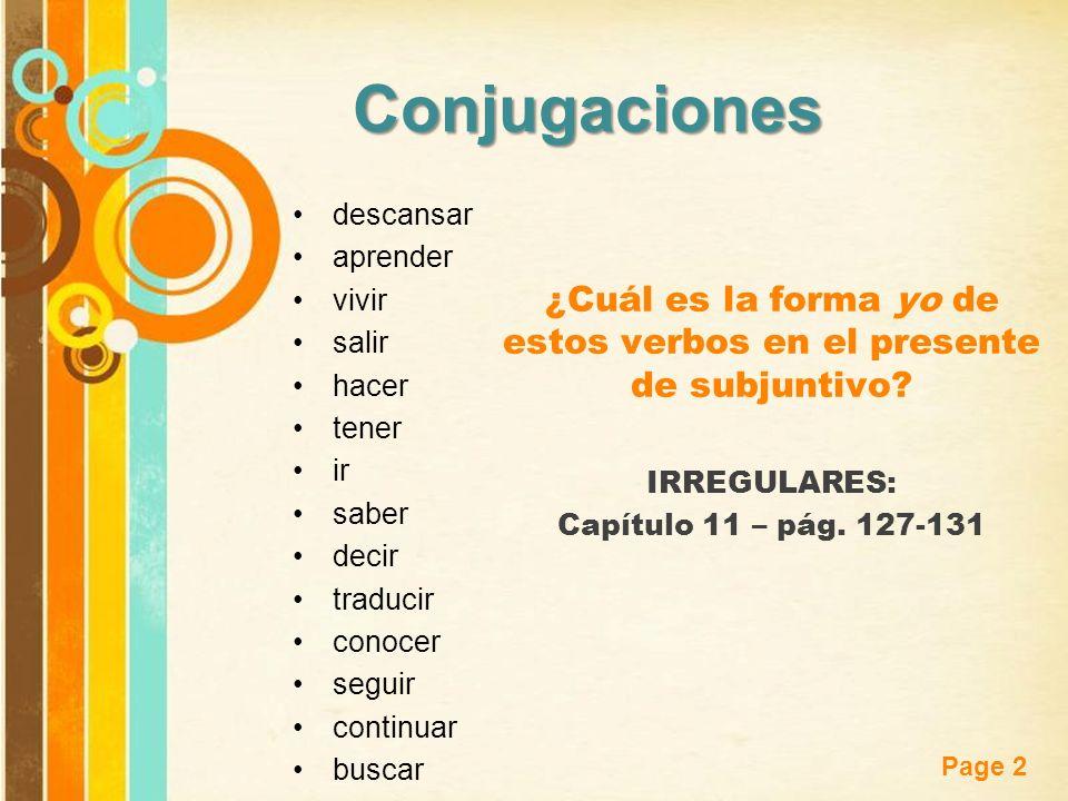 Free Powerpoint Templates Page 23 Para dar mandatos indirectos usa decir que + un verbo en subjuntivo.