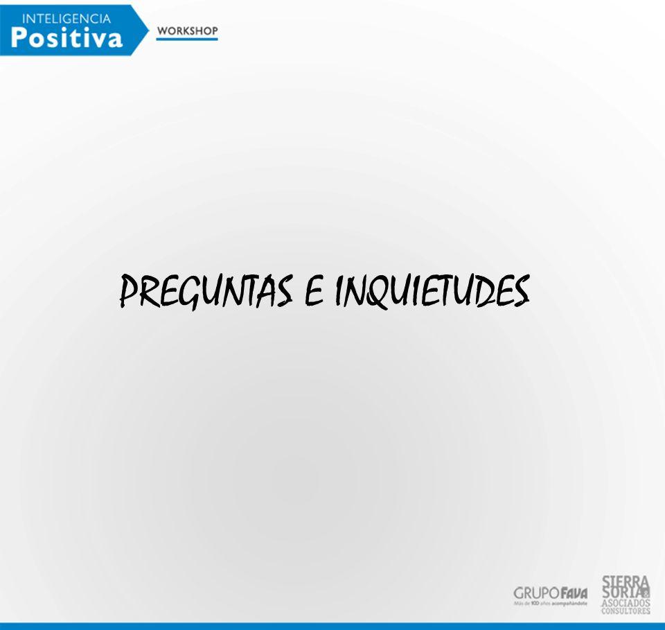 PREGUNTAS E INQUIETUDES