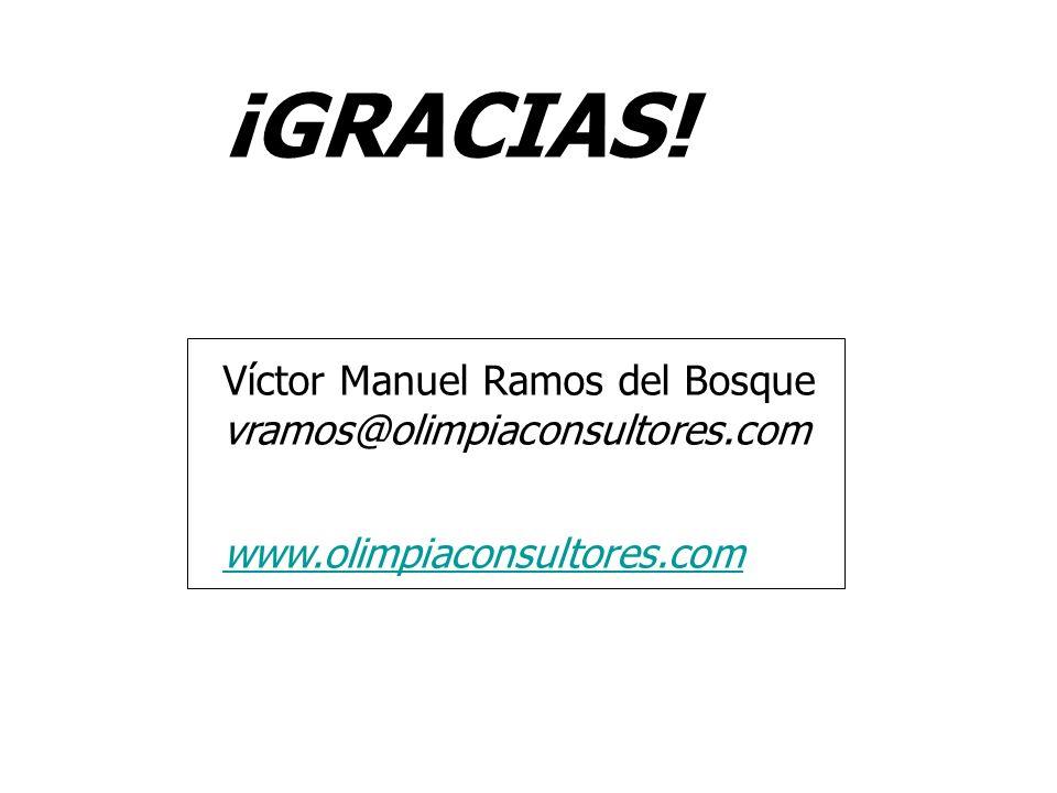 ¡GRACIAS! Víctor Manuel Ramos del Bosque vramos@olimpiaconsultores.com www.olimpiaconsultores.com