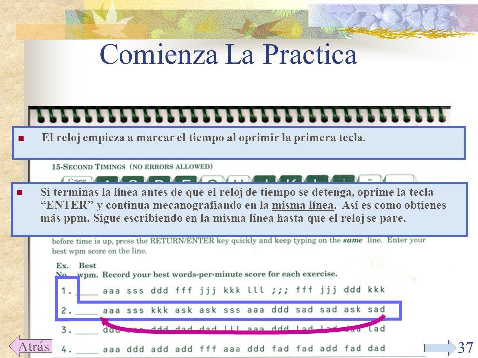 36 Comienza La Practica Back Da un click en EX:02 (que corresponde al ejercicio 2 en el texto).
