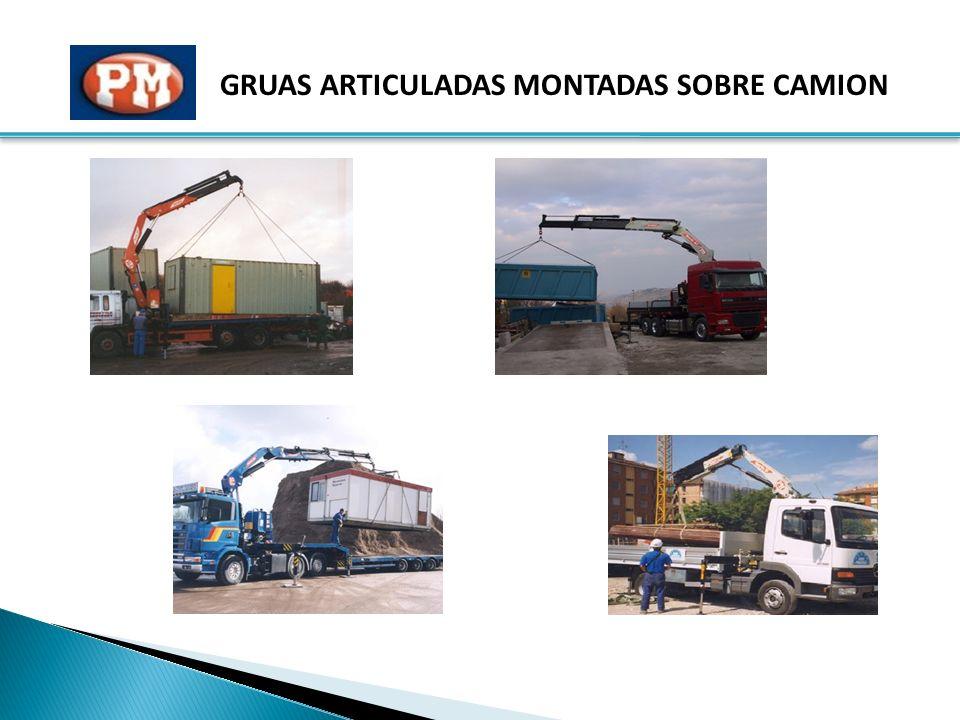 GRUAS ARTICULADAS MONTADAS SOBRE CAMION
