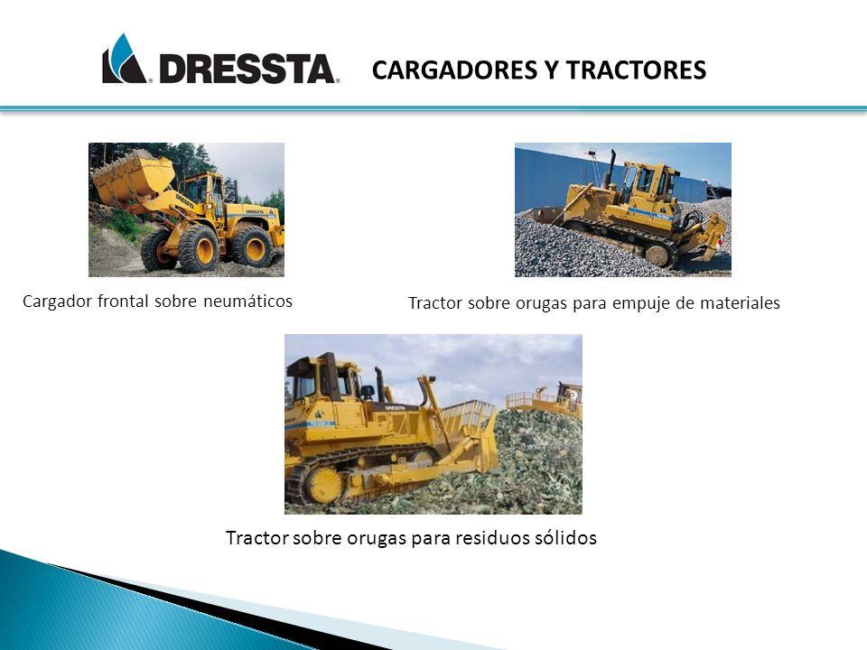 Cargador frontal sobre neumáticos Tractor sobre orugas para empuje de materiales CARGADORES Y TRACTORES Tractor sobre orugas para residuos sólidos
