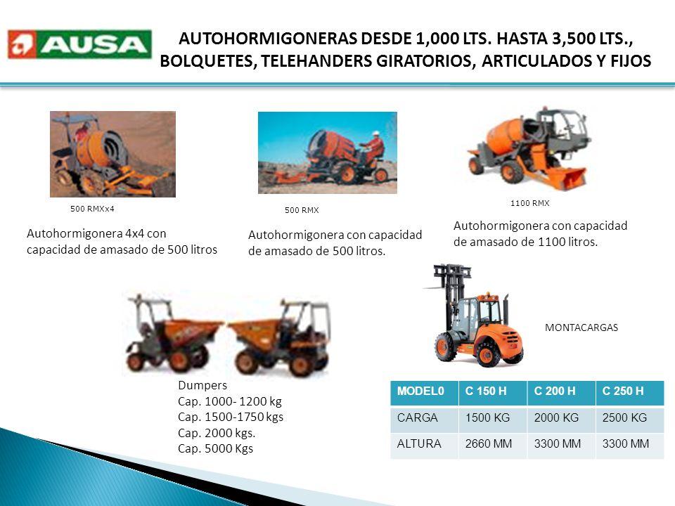 AUTOHORMIGONERAS DESDE 1,000 LTS.