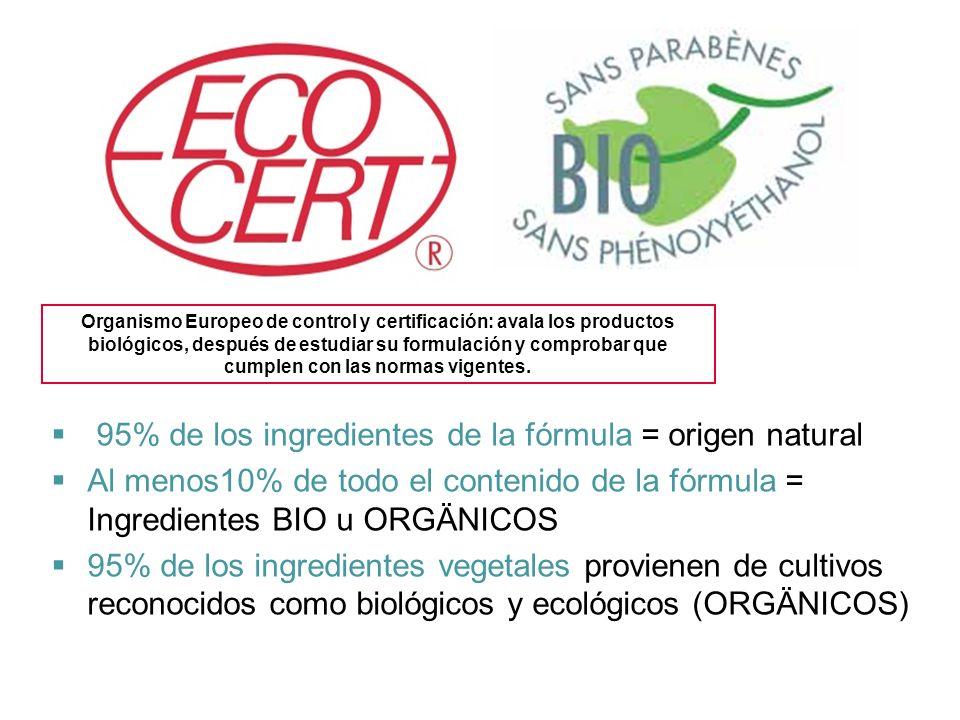 Organismo Europeo de control y certificación: avala los productos biológicos, después de estudiar su formulación y comprobar que cumplen con las norma