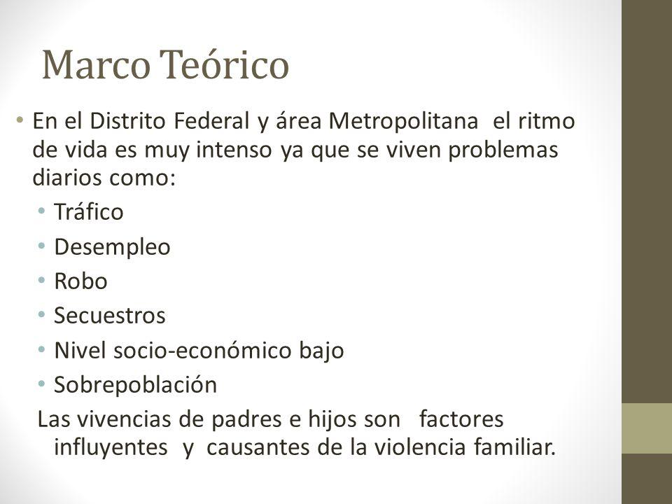 Marco Teórico En el Distrito Federal y área Metropolitana el ritmo de vida es muy intenso ya que se viven problemas diarios como: Tráfico Desempleo Ro