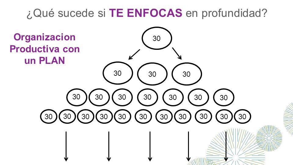 30 Organizacion Productiva con un PLAN ¿Qué sucede si TE ENFOCAS en profundidad?