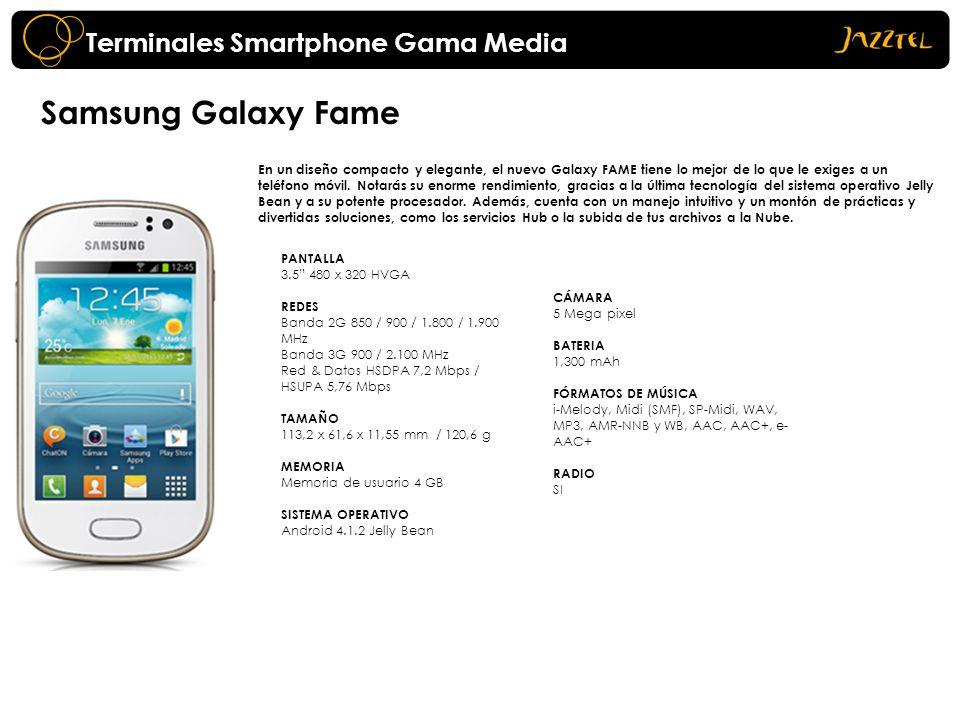 Samsung Galaxy Fame En un diseño compacto y elegante, el nuevo Galaxy FAME tiene lo mejor de lo que le exiges a un teléfono móvil. Notarás su enorme r