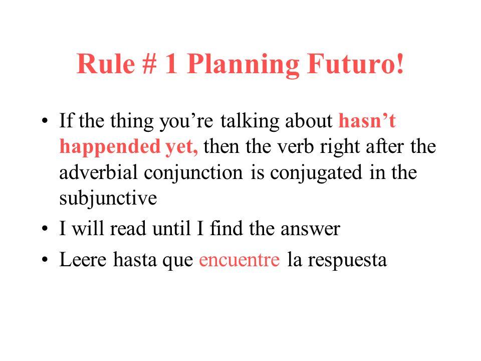 Rule # 1 Planning Futuro.