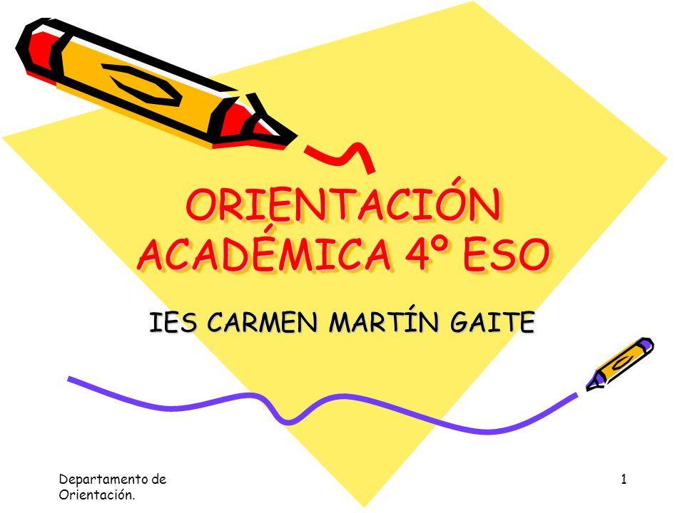 ITINERARIOS DE BACHILLERATO I.E.S Carmen Martín Gaite Navalcarnero