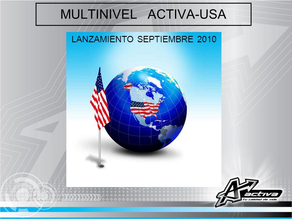 MULTINIVEL ACTIVA-USA LANZAMIENTO SEPTIEMBRE 2010