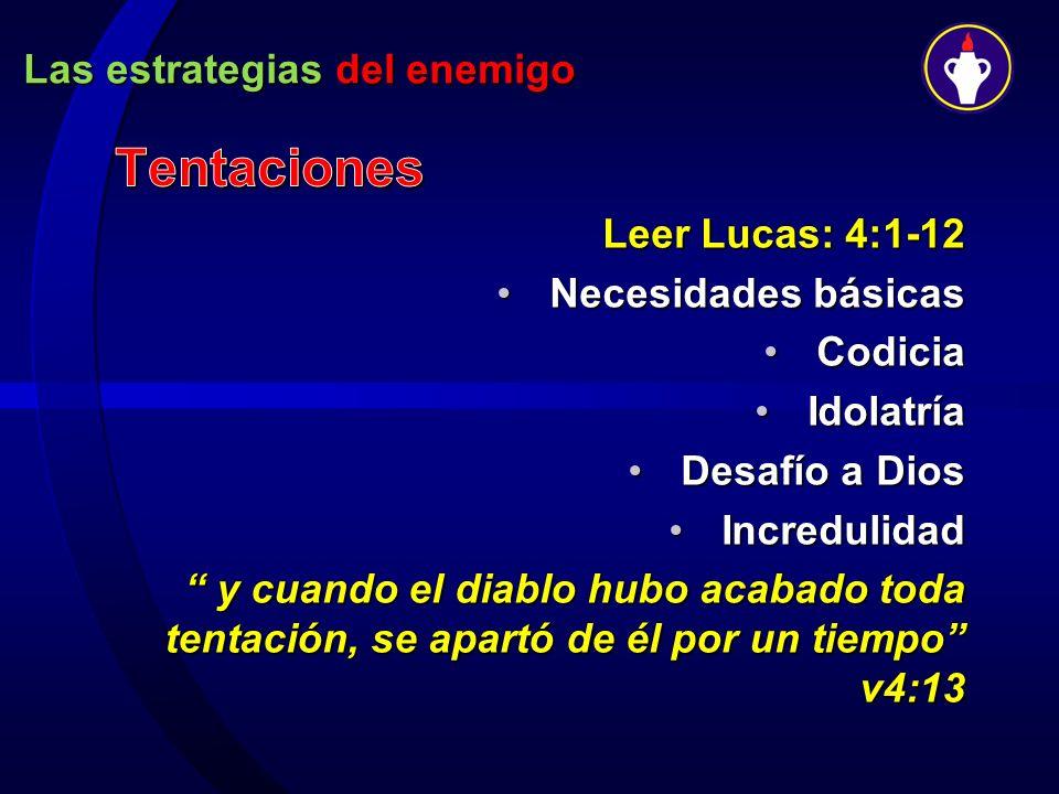 Las estrategias del enemigo