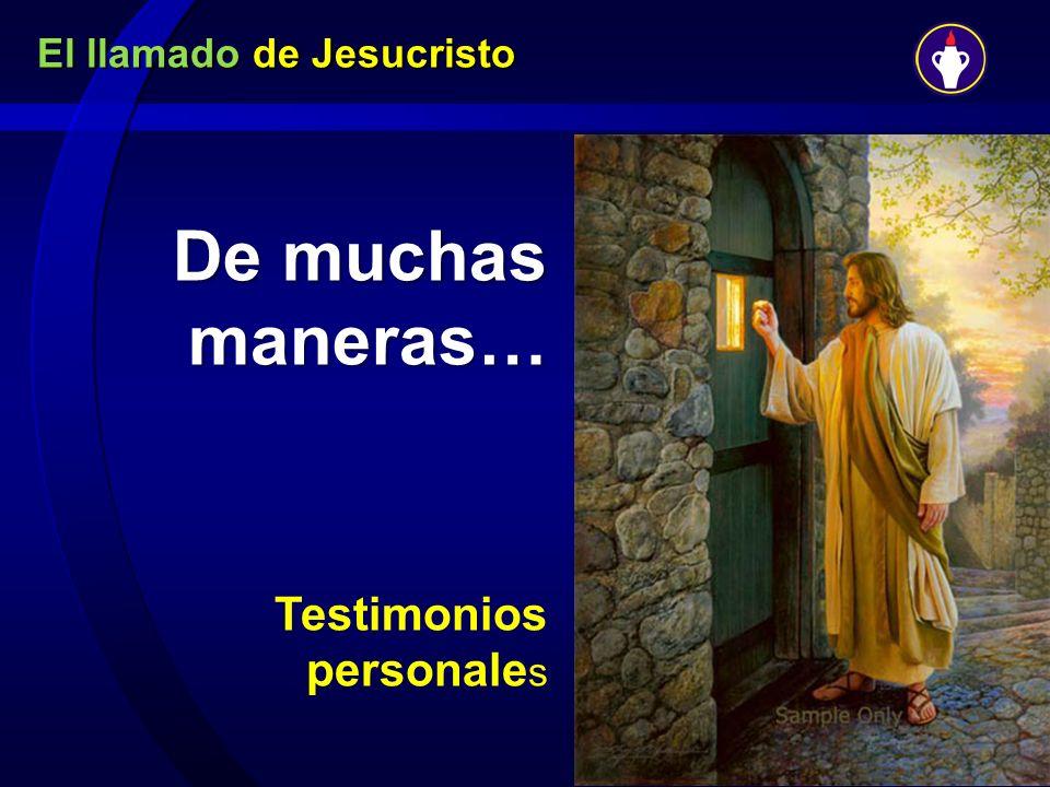 De muchas maneras… Testimonios personale s
