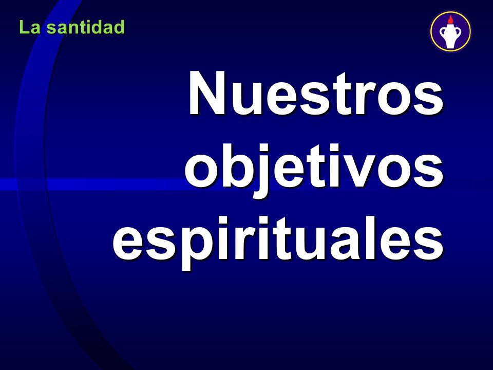 La santidad Nuestros objetivos espirituales