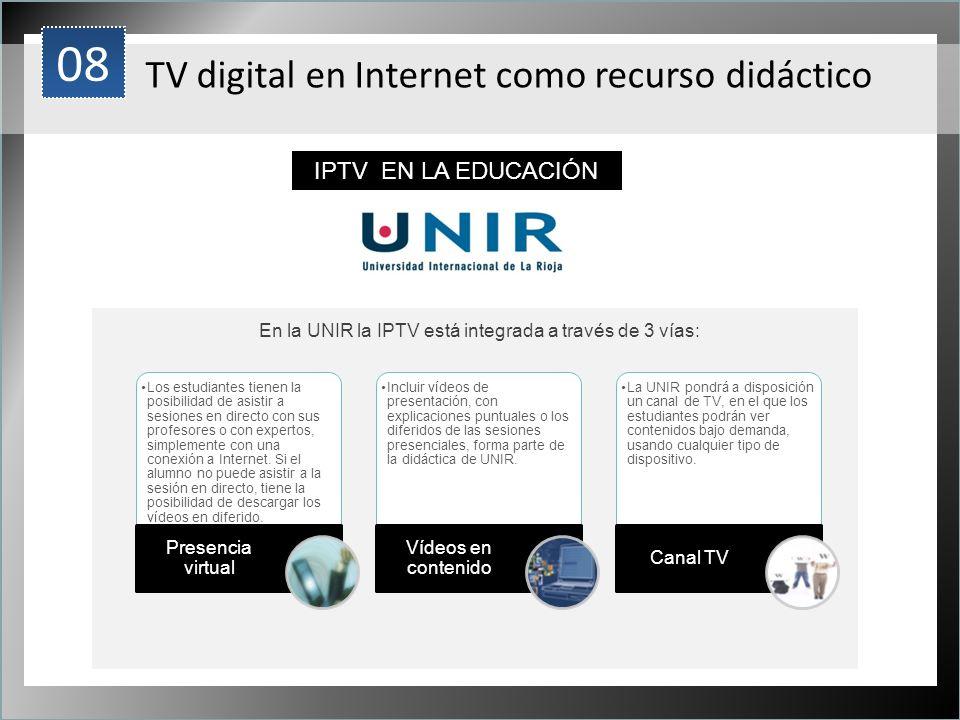 1 Los estudiantes tienen la posibilidad de asistir a sesiones en directo con sus profesores o con expertos, simplemente con una conexión a Internet. S