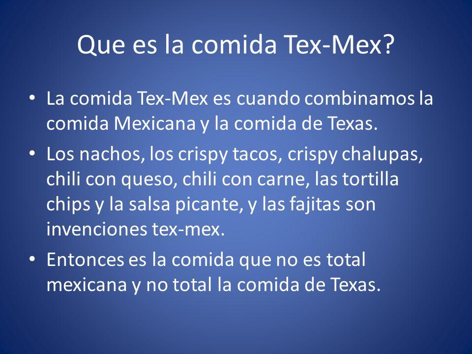 La Comida Tex-Mex
