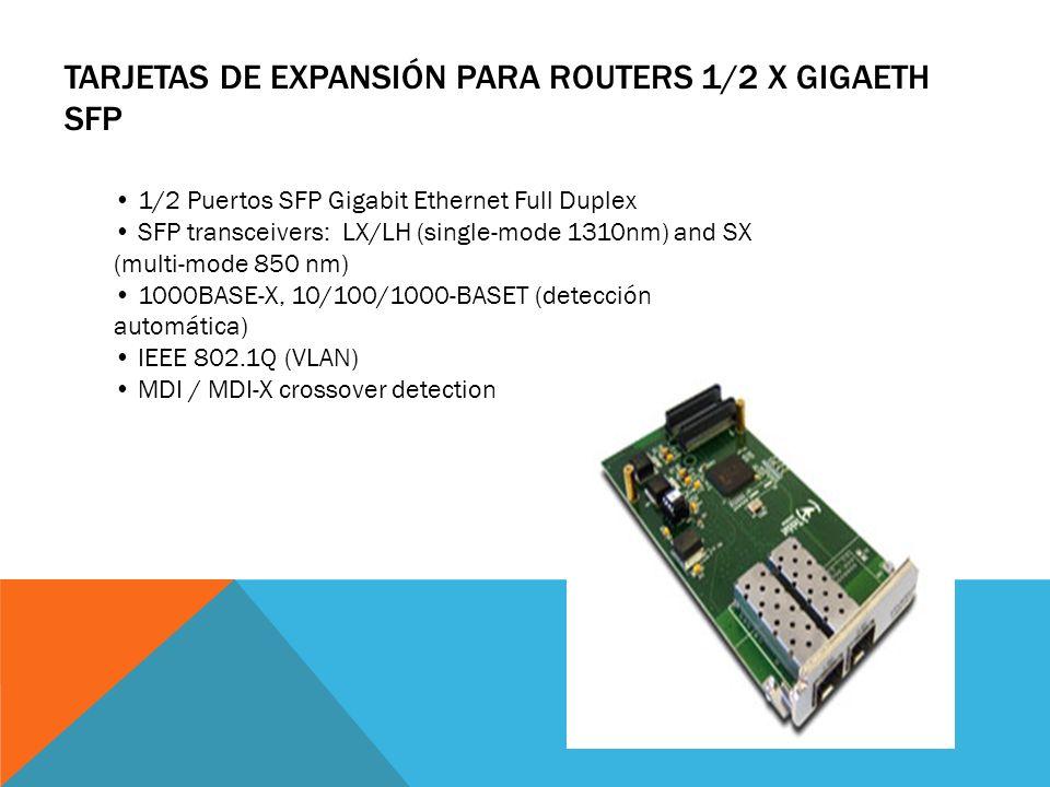 TARJETAS DE EXPANSIÓN PARA ROUTERS SWITCH 16 X ETH 10/100 + POE Slot posterior dedicado en Atlas360 (no ocupa slot PMC) 16 puertos 10/100-BaseT FastEt
