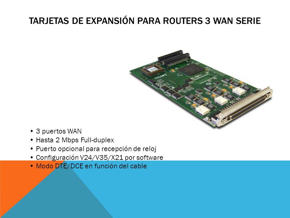 TARJETAS DE EXPANSIÓN PARA ROUTERS 1/2 X GIGAETH SFP 1/2 Puertos SFP Gigabit Ethernet Full Duplex SFP transceivers: LX/LH (single-mode 1310nm) and SX