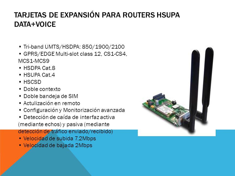 TARJETAS DE EXPANSIÓN PARA ROUTERS PCMCIA/CARDBUS SLOT Un slot PCMCIA/CARDBUS para insertar tarjetas de acceso 2G/3G