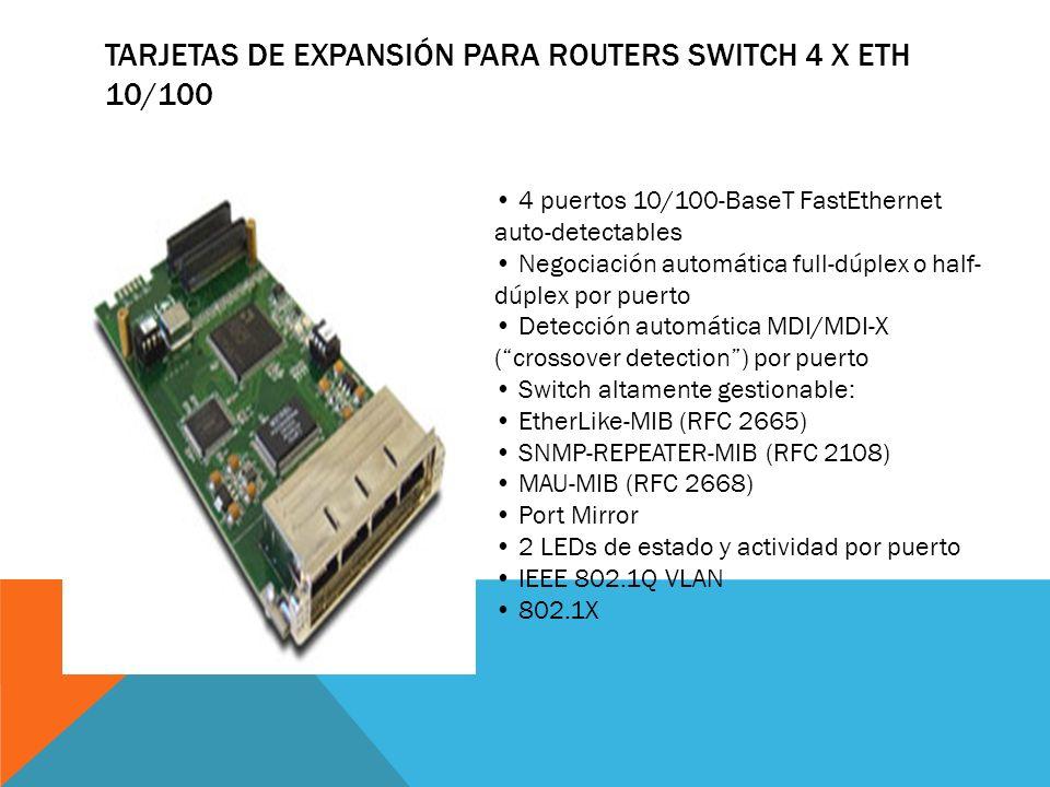 TARJETAS DE EXPANSIÓN PARA ROUTERS HSUPA DATA+VOICE Tri-band UMTS/HSDPA: 850/1900/2100 GPRS/EDGE Multi-slot class 12, CS1-CS4, MCS1-MCS9 HSDPA Cat.8 H